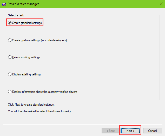 use driver-verifier-manager to identify issues with Windows drivers