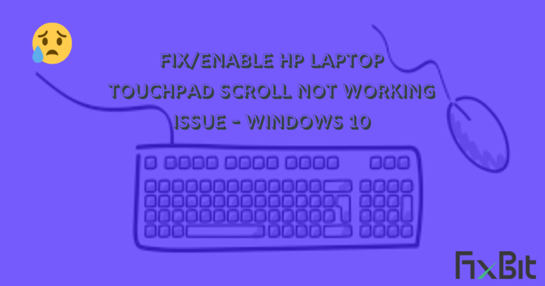 hp touchpad not working after update